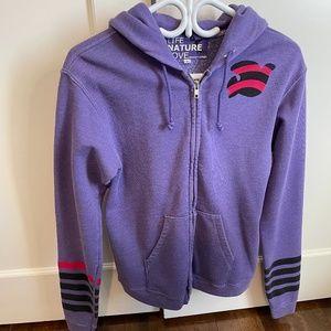 Purple Freecity zip up size 2